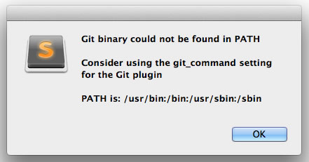 Git binary could not be fount