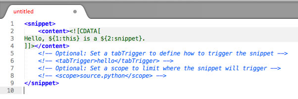 Sublime Text 2 Snippets